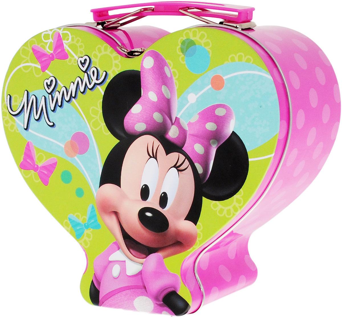 Amscan Чемоданчик Disney Минни Маус1507-0820Яркий чемоданчик Amscan  Disney: Минни Маус не оставит равнодушным ни одного поклонника мультфильмов студии Дисней. Чемоданчик изготовлен из металла и оформлена изображением Минни Маус. Чемоданчик закрывается на металлическую защелку и оснащен пластиковой ручкой, благодаря которой ее можно использовать в качестве контейнера для канцелярских принадлежностей. Такой чемоданчик можно использовать в качестве шкатулки, он украсит интерьер вашей комнаты и станет не только декоративным, но и практичным аксессуаром - его можно использовать для хранения украшений и мелочей.