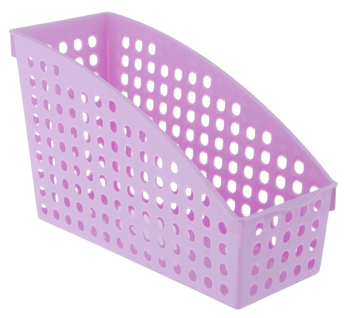 Корзина для мелочей Sima-land Трапеция, цвет: сиреневый, 25 см х 10,5 см х 15,7 см. 799927799927_сиреневыйКорзина для мелочей Sima-land Трапеция изготовлена из высококачественного пластика. предназначена для хранения мелочей в ванной, на кухне, даче или офисе. Позволяет хранить мелкие вещи, исключая возможность их потери. Это легкая корзина со сплошным дном и перфорированными стенками.
