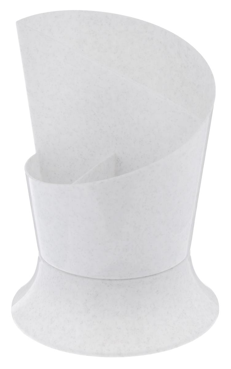 Сушилка для столовых приборов Idea Факел, цвет: мраморныйМ 1163Сушилка для столовых приборов Idea Факел, выполненная из высококачественного пластика, станет полезным приобретением для вашей кухни. Сушилка имеет три отделения для разных видов столовых приборов. Дно отделений оснащено отверстиями. Сушилка Idea Факел удобна в использовании и имеет яркий современный дизайн, который станет ярким акцентом в интерьере вашей кухни. Размер сушилки: 11 см х 11 см х 15 см.