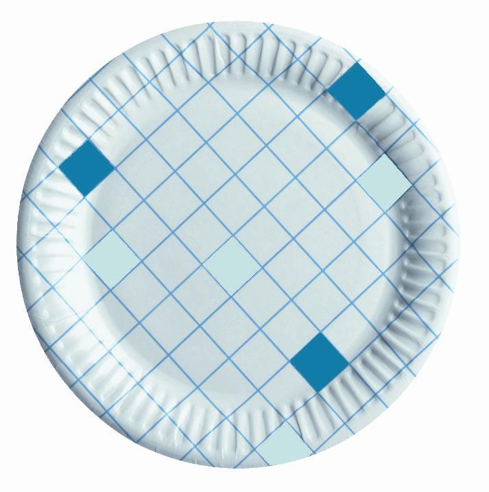 Набор одноразовых тарелок Huhtamaki Caterline, цвет: белый, синий, диаметр 15 см, 100 штПОС08342Набор Huhtamaki Caterline состоит из 100 круглых тарелок, выполненных из плотной бумаги и предназначенных для одноразового использования. Изделия декорированы оригинальным узором. Одноразовые тарелки будут незаменимы при поездках на природу, пикниках и других мероприятиях. Они не займут много места, легки и самое главное - после использования их не надо мыть. Диаметр тарелки (по верхнему краю): 15 см.