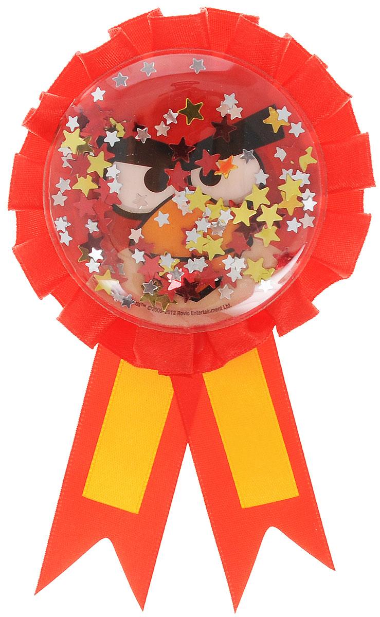 Amscan Значок Angry Birds1507-0877Нарядный значок Angry Birds станет отличной наградой победителю соревнований и игр на детском празднике. Значок выполнен из пластика и оформлен контрастными атласными лентами. Значок украшен изображением Красной птицы из знаменитой игры и наполнен блестящими конфетти. Значок надежно и легко крепится на одежду при помощи безопасной булавки. Наградной значок станет неотъемлемым атрибутом любых детских утренников, спортивных соревнований и дня рождения.