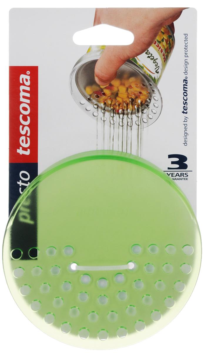 Дуршлаг для консервных банок Tescoma Presto, цвет: зеленый, диаметр 10,5 см420615_зеленыйДуршлаг Tescoma Presto изготовлен из высококачественного пластика. Он прекрасно подходит для легкого процеживания пищи из консервных банок, либо посуды небольшого диаметра. Можно мыть в посудомоечной машине. Диаметр: 10,5 см.