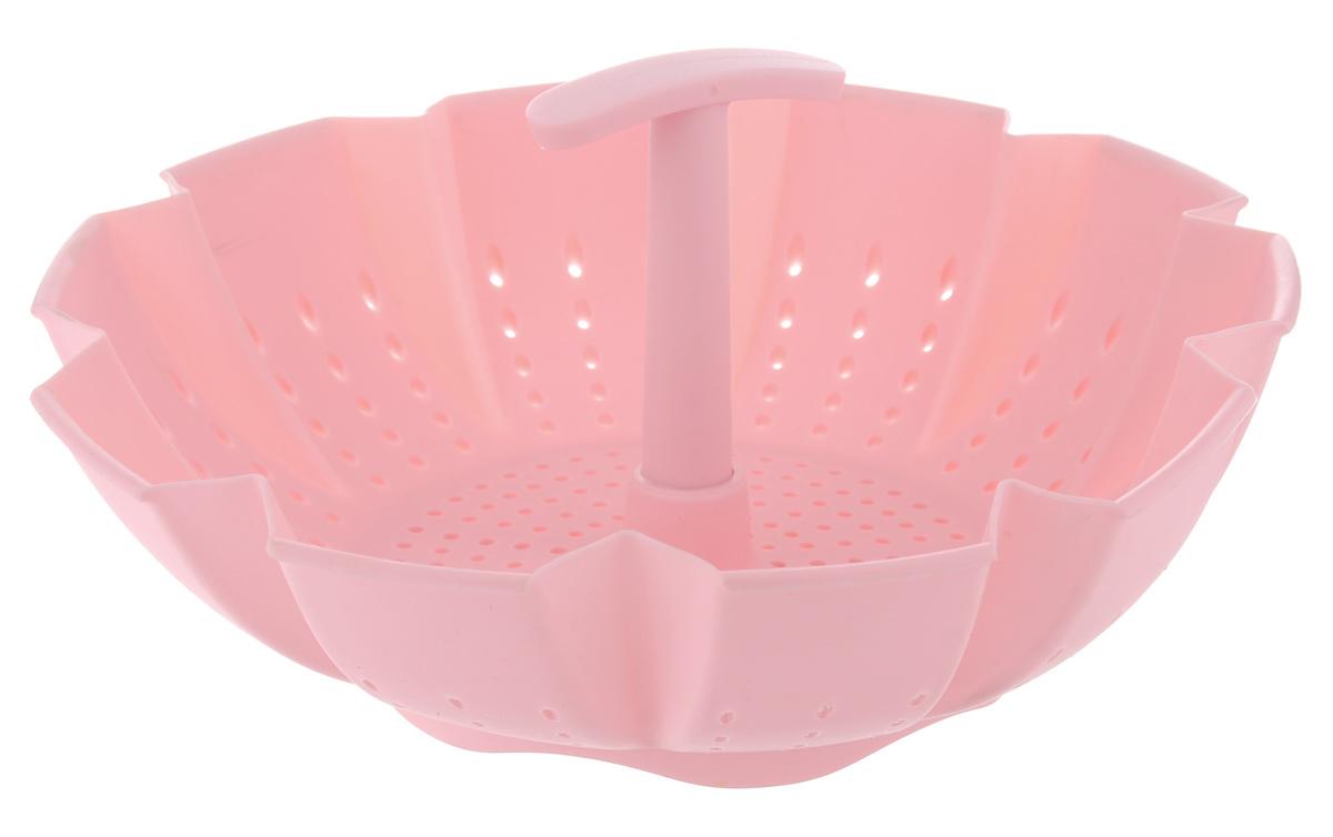 Пароварка Mayer & Boch, цвет: розовый, 900 мл21984_розовыйПароварка Mayer & Boch выполнена из высококачественного силикона и предназначена для готовки на пару и разогрева. Изделие можно безбоязненно помещать в морозильную камеру, холодильник, микроволновую печь, посудомоечную машину и духовой шкаф. Благодаря материалу пароварка не ржавеет, на ней не образуются пятна. Диаметр по верхнему краю: 22 см. Высота: 10 см.