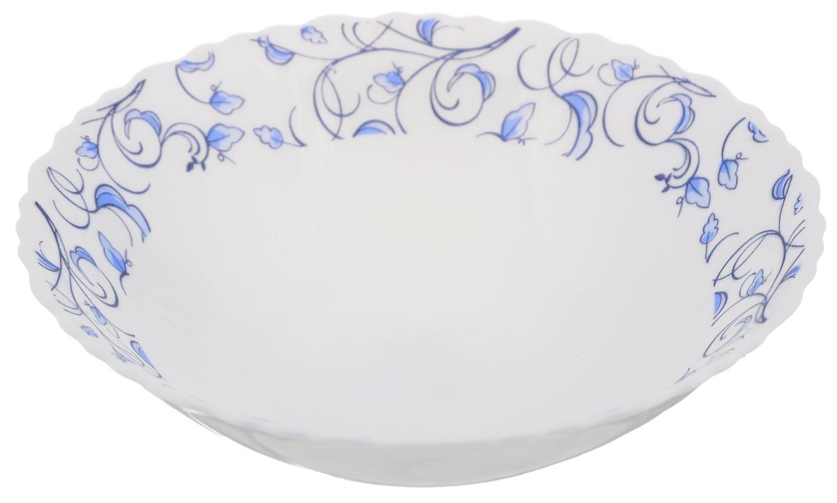 Тарелка суповая Нормандия, диаметр 19 смOLHDW-75/310Суповая тарелка Chinbull Нормандия, выполненная из высококачественной стеклокерамики, декорирована изображением листьев. Изящный дизайн придется по вкусу и ценителям классики, и тем, кто предпочитает утонченность. Тарелка Chinbull Нормандия идеально подойдет для сервировки стола и станет отличным подарком к любому празднику. Диаметр (по верхнему краю): 19 см. Высота стенки: 5,5 см.