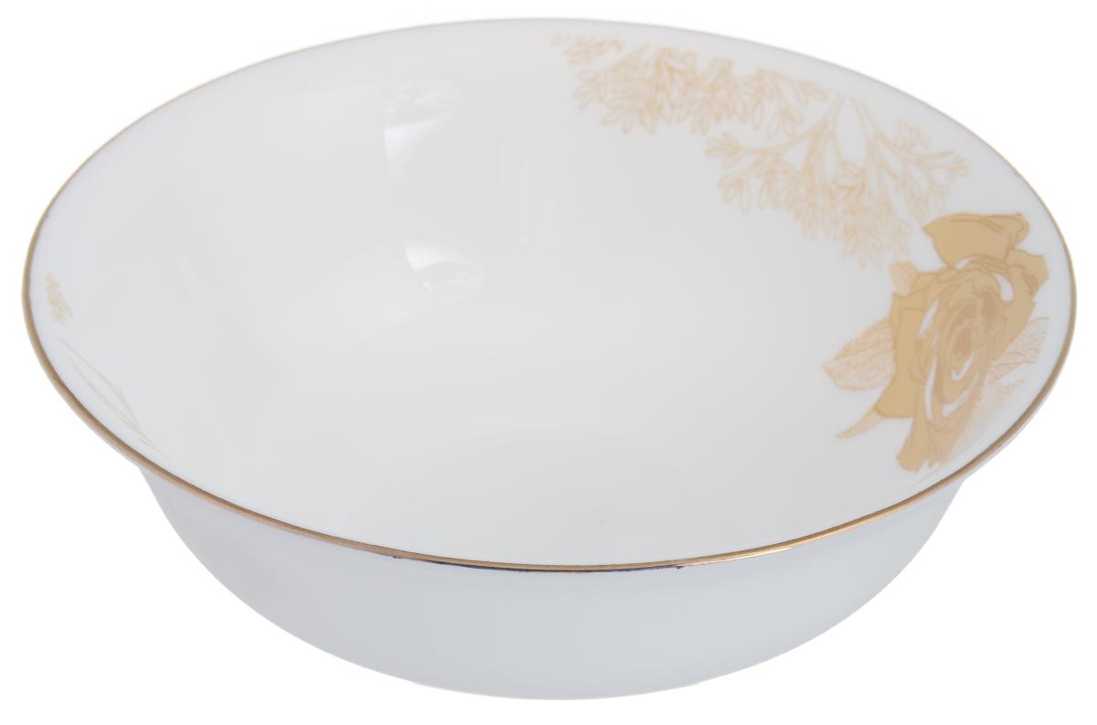 Миска Chinbull Шампань, диаметр 16,3 смOLFW-65/309-3JОригинальная миска Chinbull Шампань, выполненная из высококачественной стеклокерамики, декорирована изображением цветов. Изящный дизайн придется по вкусу и ценителям классики, и тем, кто предпочитает утонченность. Изделие очень функционально, оно пригодится на кухне для самых разнообразных нужд: в качестве салатника, миски или тарелки. Миска Chinbull Шампань идеально подойдет для сервировки стола и станет отличным подарком к любому празднику. Можно использовать в посудомоечной машине и СВЧ. Диаметр (по верхнему краю): 16,3 см. Высота стенки: 5,3 см.