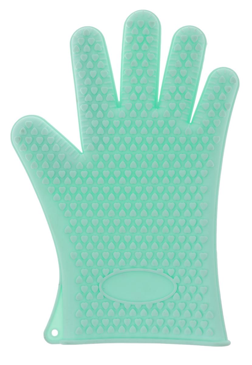 Прихватка-перчатка Mayer & Boch, цвет: ментол, 27,5 см21989_ментолНеобыкновенно яркая и практичная прихватка-перчатка Mayer & Boch выполнена из мягкого и прочного силикона. Очень приятная на ощупь, невероятно гибкая, выдерживает большой перепад температур от -60°C до +230°С. Удобно и прочно сидит на руке. С помощью такой прихватки ваши руки будут защищены от ожогов, когда вы будете ставить в печь или доставать из нее выпечку. Можно мыть в посудомоечной машине.
