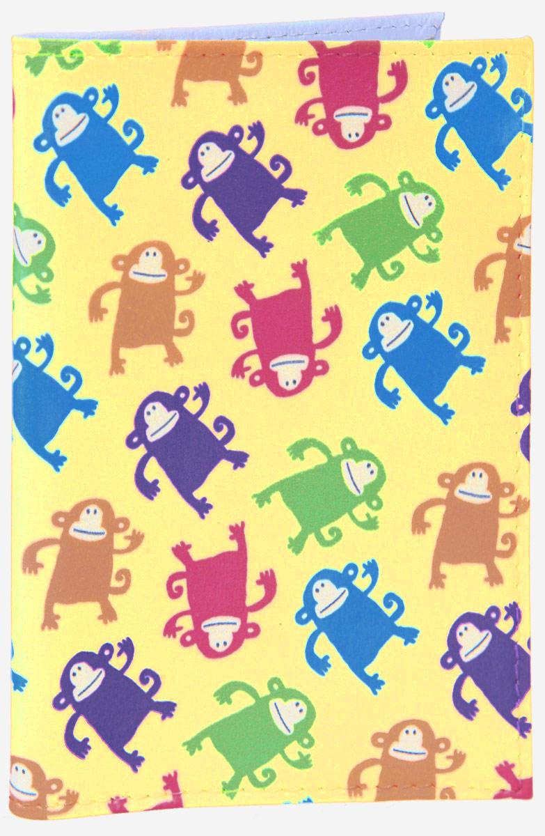 Обложка для паспорта Смешные обезьянки. OZAM386OZAM386Яркая обложка для паспорта Mitya Veselkov Смешные обезьянки выполнена из поливинилхлорида и оформлена принтом с изображением разноцветных обезьянок. Изделие раскладывается пополам. Внутри расположены два накладных кармана. Обложка для паспорта поможет сохранить внешний вид ваших документов и защитить их от повреждений, а также станет стильным аксессуаром, который подчеркнет ваш образ.