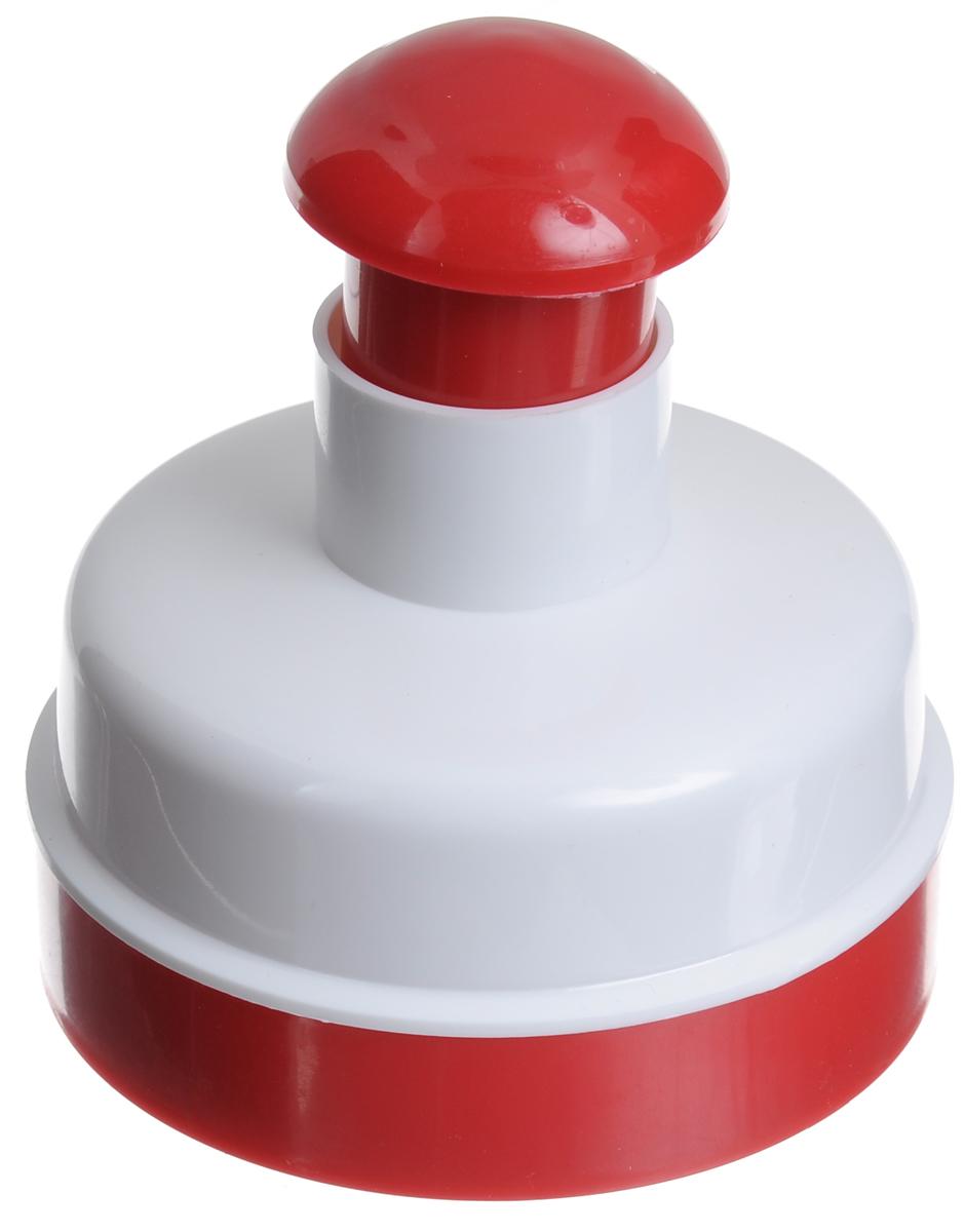 Пресс для приготовления котлет Metaltex, цвет: белый, красный25.17.25_красныйПресс для приготовления котлет Metaltex изготовлен из высококачественного пищевого пластика. Пресс позволяет быстро и без особых усилий приготовить идеально ровные котлеты. Прибор удобен и прост в эксплуатации: наполните форму фаршем, установите донышко, с усилием надавите на форму в течение нескольких секунд, снимите донышко и выньте котлету. Изделие прекрасно подходит для приготовления домашних гамбургеров.