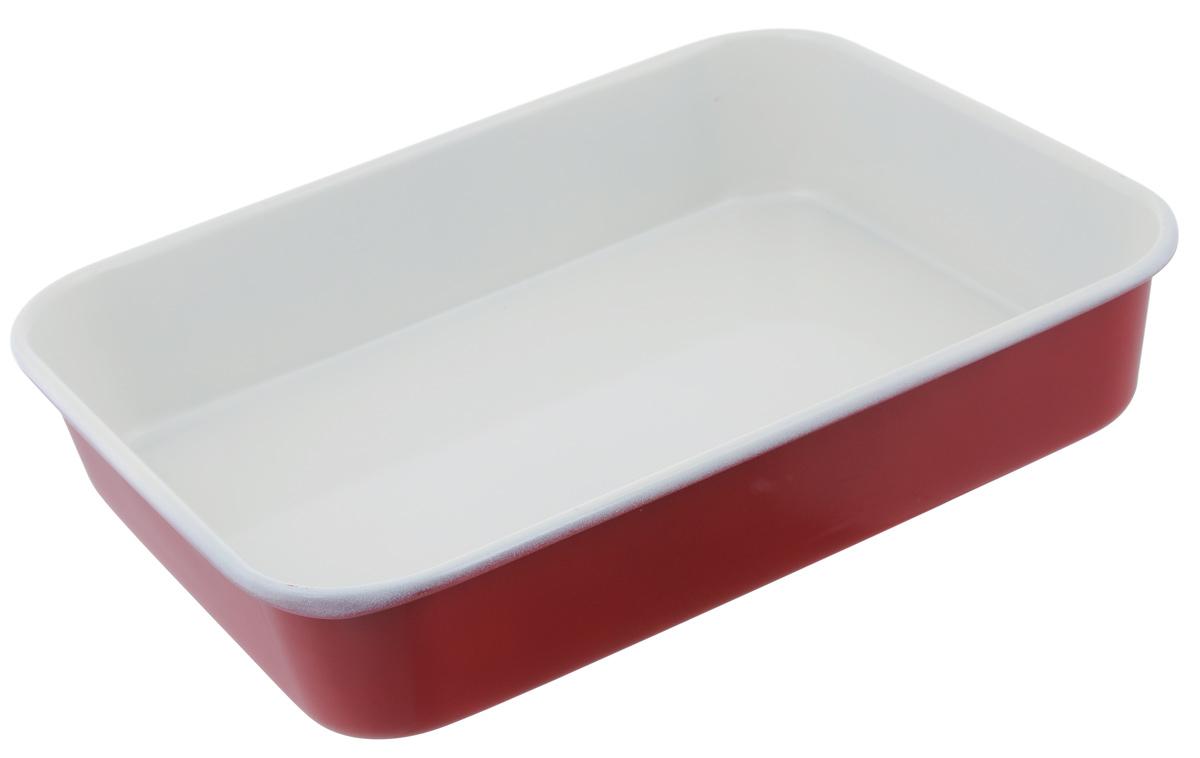 Противень Mayer & Boch, с керамическим покрытием, прямоугольный, цвет: красный, 34 х 26 х 6,5 см22254Противень Mayer & Boch выполнен из высококачественной углеродистой стали и снабжен антипригарным керамическим покрытием, что обеспечивает ему прочность и долговечность. Противень равномерно и быстро прогревается, что способствует лучшему пропеканию пищи. Его легко чистить. Готовая выпечка без труда извлекается. Противень подходит для использования в духовке с максимальной температурой 250°С. Перед каждым использованием противень необходимо смазать небольшим количеством масла. Простой в уходе и долговечный в использовании противень Mayer & Boch станет верным помощником в создании ваших кулинарных шедевров. Не рекомендуется мыть в посудомоечной машине. Размер противня: 34 см х 26 см х 6,5 см. Толщина стенки противня: 0,6 мм.