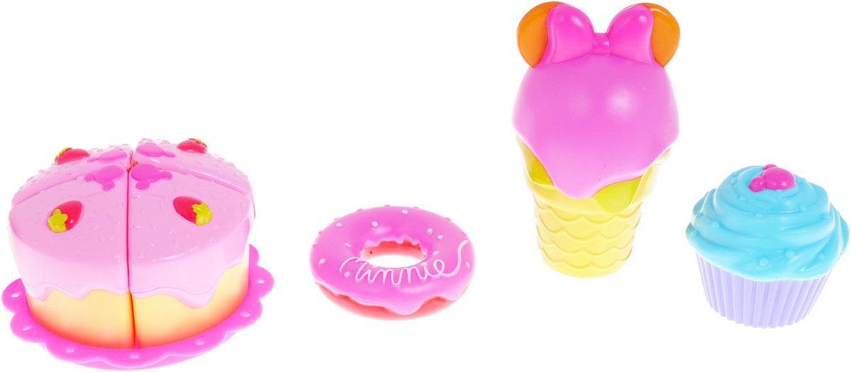 Disney Игровой набор Продукты Minnie цвет розовый сиреневый1106999/180406/180260Игровой набор Disney Продукты Minnie, выполненный из прочного безопасного материала, отлично подойдет ребенку для различных игр. Чтобы вашим детям стало еще интереснее придумывать новые игры, нужны игрушечные продукты. Набор состоит из муляжей различных продуктов в тематике Минни Маус. Такой набор станет незаменимым дополнением к кухне вашей маленькой хозяйки, ведь с ним она сможет вкусно накормить всех своих кукол. Представленная яркая еда, конечно несъедобна, так как выполнена из высококачественных полимерных материалов, зато прослужит долго. Данный набор станет отличным подарком для вашей девочки!