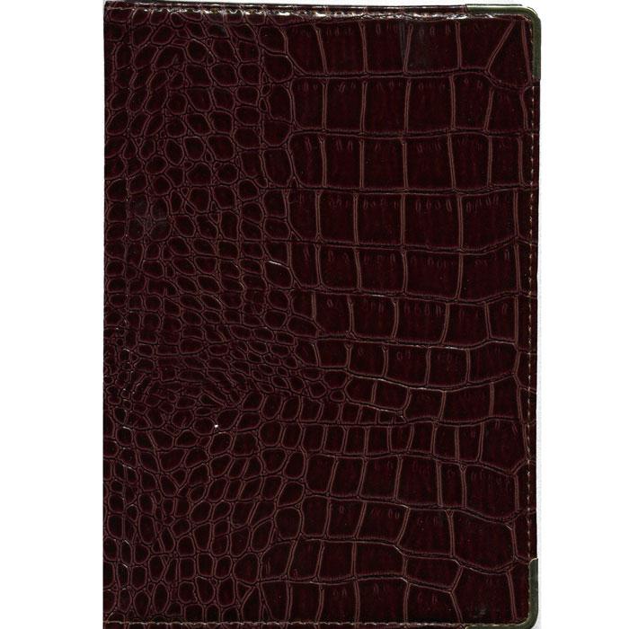 Index Ежедневник Croco недатированный 168 листов цвет коричневый