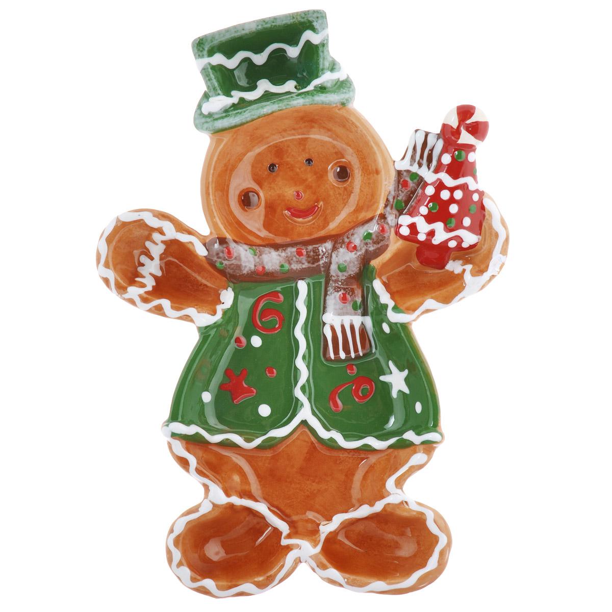 Блюдо House & Holder Снеговик, 18,5 см х 26 см х 3 смYM121248-2B/C зеленыйБлюдо House & Holder Снеговик выполнено из высококачественного фаянса в виде снеговика и имеет отделение для соуса. Такое блюдо можно использовать для подачи закусок. Оригинальный дизайн блюда House & Holder Снеговик идеально впишется в интерьер вашей кухни или будет достойным подарком для родных и друзей.