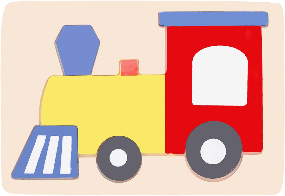 Bondibon Пазл ПаровозВВ1090_паровозBondibon деревянный пазл Паровоз предназначен для самых маленьких. Он состоит из деревянной панели, в которую вставляются цветные элементы паровозика-пазла. Мудрые родители выбирают для своих малышей игрушки, которые обучают малыша в процессе увлекательной игры, формируют его внутренний мир и не вредят здоровью. Деревянные развивающие игрушки, детали которых изготовлены из различных пород дерева - клена, можжевельника, березы - это не просто яркий предмет, способный надолго увлечь ребенка, но и его первый учитель, рассказывающий о мире на интуитивно понятном крохе языке.