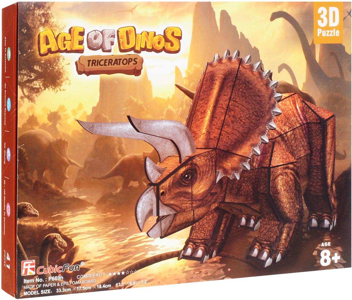 CubicFun 3D пазл Эра Динозавров Трицератопс