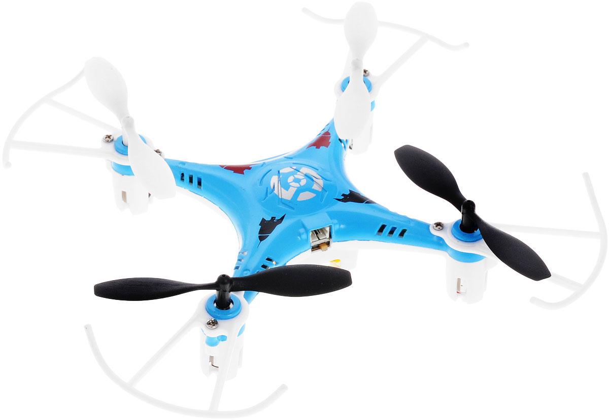 Bayang Toy Квадрокоптер на радиоуправлении X7 цвет синийX7Квадрокоптер Х7 c инфракрасным четырехканальным управлением будет отличной покупкой для начинающих пилотов. Благодаря своей невысокой цене и отличным полетным характеристикам, каждый человек сможет приобщиться к увлекательному миру квадрокоптеров. Квадрокоптер имеет небольшие размеры, а также оснащен дополнительной защитой, которая делает его устойчивым при ударах и падениях, поэтому его можно эксплуатировать как на улице, так и в помещении. И самое главное, он способен переворачиваться в воздухе на 360 градусов! Модель работает от встроенного аккумулятора, который можно заряжать от USB-шнура (входит в комплект). Для работы пульта управления необходимо докупить 4 батарейки напряжением 1,5V типа АА (в комплект не входят).