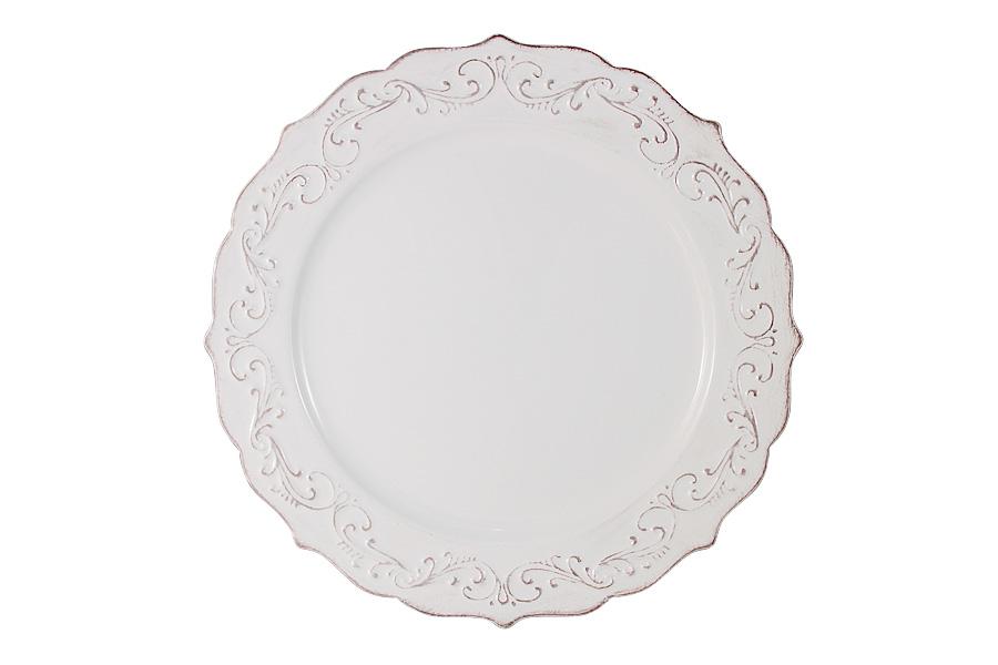 Тарелка обеденная Imari Винтаж, диаметр 28 смIMA0315H/1-DH157ALОбеденная тарелка Imari Винтаж изготовлена из высококачественной керамики, основным ингредиентом которой является твердый доломит. Это обеспечивает посуду безупречной белизной, легкостью и термостойкостью. Нанесение сверкающей глазури, не содержащей свинца, придает изделию превосходный блеск и особую прочность. Изделие декорировано красивым рельефом и резными краями в винтажном стиле. Предназначено для подачи вторых блюд. Тарелка отлично подойдет для особых случаев. Благодаря качеству исполнения и красивому дизайну она станет отличным приобретением для вашей кухни. Можно мыть в посудомоечных машинах.