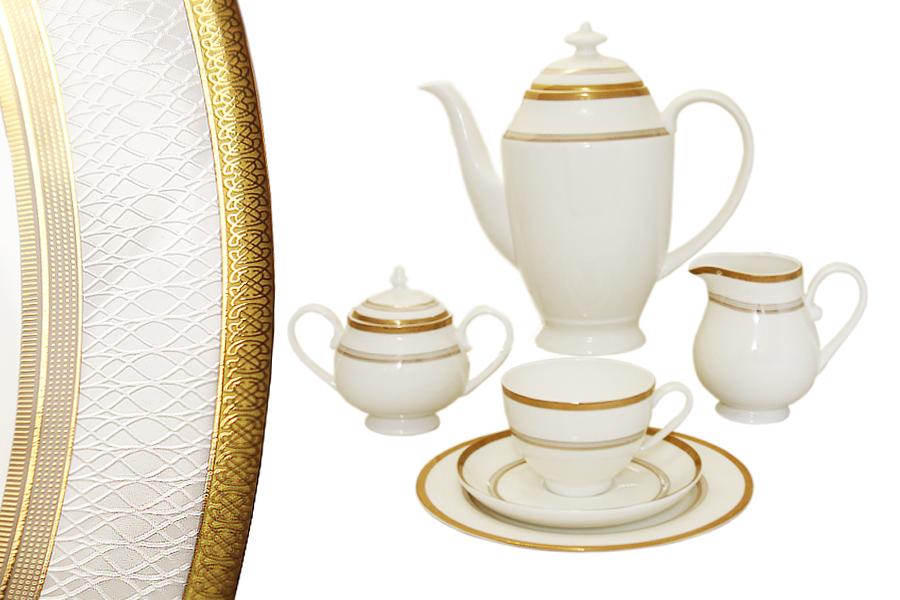 Чайный сервиз Очарование 40 предметов на 12 персон. E6-Z09Q10/40ALE6-Z09Q10/40ALЧайная и обеденная столовая посуда торговой марки Emerald произведена из высококачественного костяного фарфора. Благодаря высокому качеству исполнения, разнообразным декорам и оптимальному соотношению цена – качество, посуда Emerald завоевала огромную популярность у покупателей и пользуется неизменно высоким спросом. Поверхность изделий покрыта превосходной сверкающей глазурью, не содержащей свинца.
