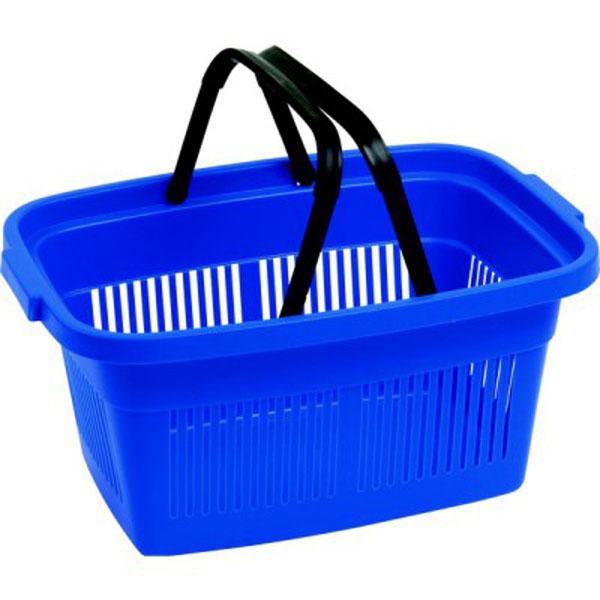 Корзинка для покупок Curver, с ручками, цвет: синий, черный, 47 х 33 х 22,5 см2686_синий, черныйПрактичная и вместительная корзинка для покупок Curver, изготовленная из высококачественного цветного пластика, успешно заменит любые одноразовые авоськи или пакеты. Изделие оснащено двумя удобными складными ручками. Благодаря жесткой форме, прекрасно подходит для переноски тяжелых продуктов.