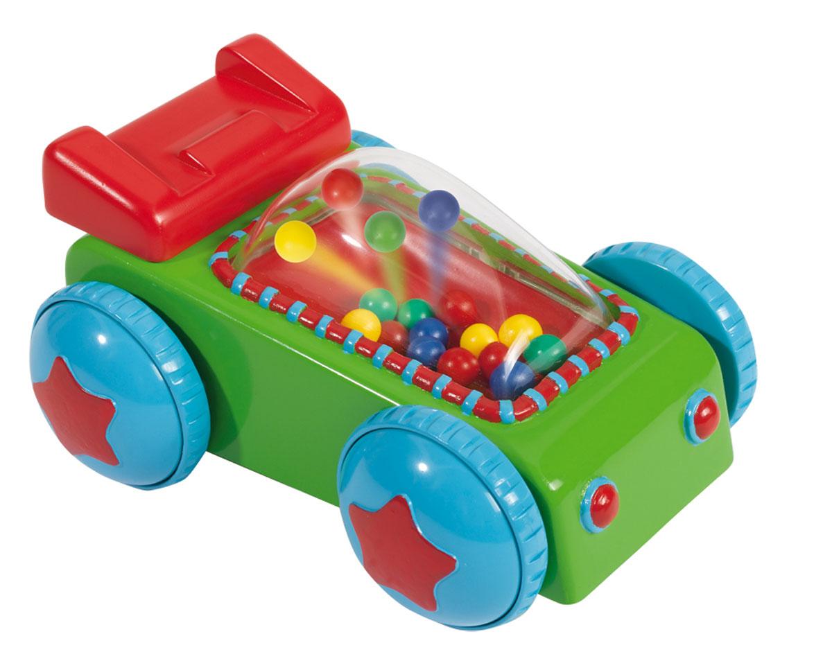 Simba Машинка-погремушка цвет зеленый синий4014239Красочная машинка-погремушка Simba понравится любому малышу. Игрушка изготовлена из высококачественного пластика ярких оттенков, ее удобно катать маленькой ручкой. Во время движения разноцветные шарики подпрыгивают и ударяются об окошко. Благодаря данной игрушке ребенок будет развивать мелкую моторику и цветовое восприятие. Порадуйте своего малыша такой забавной игрушкой!
