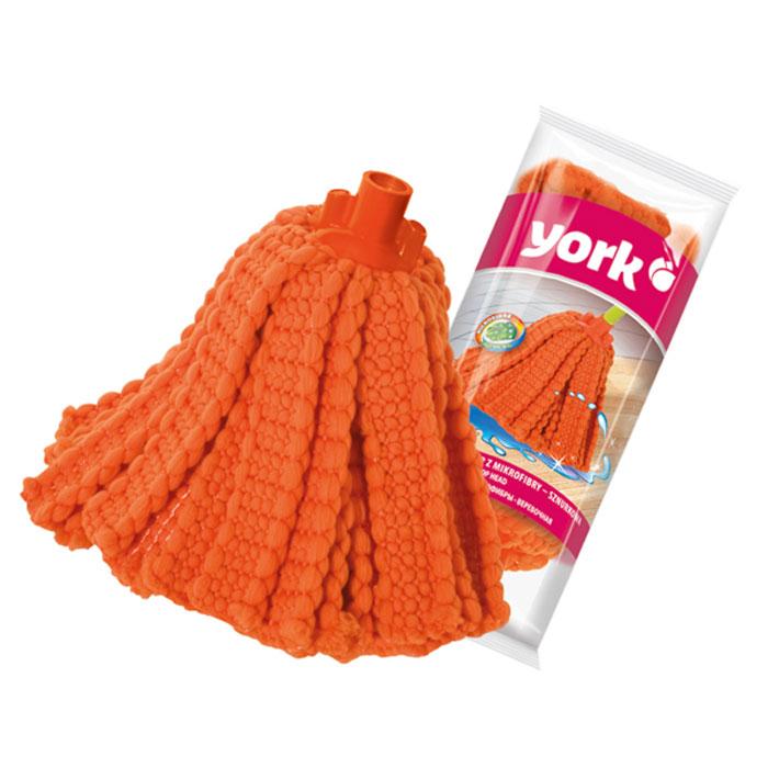 Насадка для швабры York Суприм, сменная, веревочная, цвет: оранжевый7703Сменная насадка для швабры York Суприм изготовлена из микрофибры и пластика. Микрофибра обладает высокой износостойкостью, не царапает поверхности и отлично впитывает влагу. Изделие отлично удаляет большинство жирных и маслянистых загрязнений без использования химических веществ. Насадка идеально подходит для мытья всех типов напольных покрытий. Она не оставляет разводов и ворсинок. Сменная насадка для швабры York Суприм станет незаменимой в хозяйстве. Длина насадки: 28 см.