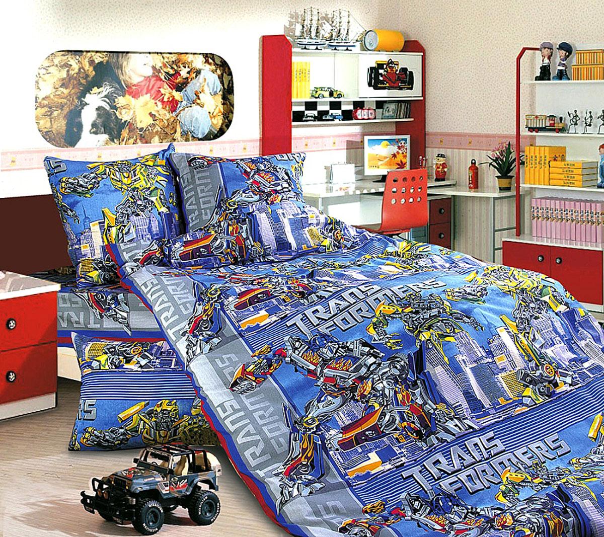 ТексДизайн Комплект детского постельного белья Трансформеры 1,5-спальный