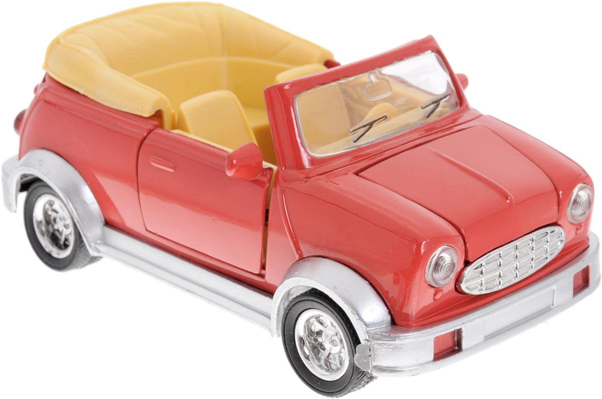 Zhorya Машинка инерционная Кабриолет цвет красныйХ75405_красныйИнерционная машинка Zhorya Кабриолет, выполненная из высококачественного металла и пластика, непременно понравится и ребенку, и взрослому. Игрушечная модель оснащена литым металлическим корпусом, вращающимися колесами из резины. Передние двери и капот открываются, салон детализирован. Игрушка оснащена инерционным ходом. Для того, чтобы автомобиль поехал вперед, необходимо его отвести назад, а затем отпустить. Прорезиненные колеса обеспечивают надежное сцепление с любой поверхностью пола. Машинка является отличным подарком для каждого ребенка. Во время игры с такой машинкой у ребенка развивается мелкая моторика рук, фантазия и воображение.