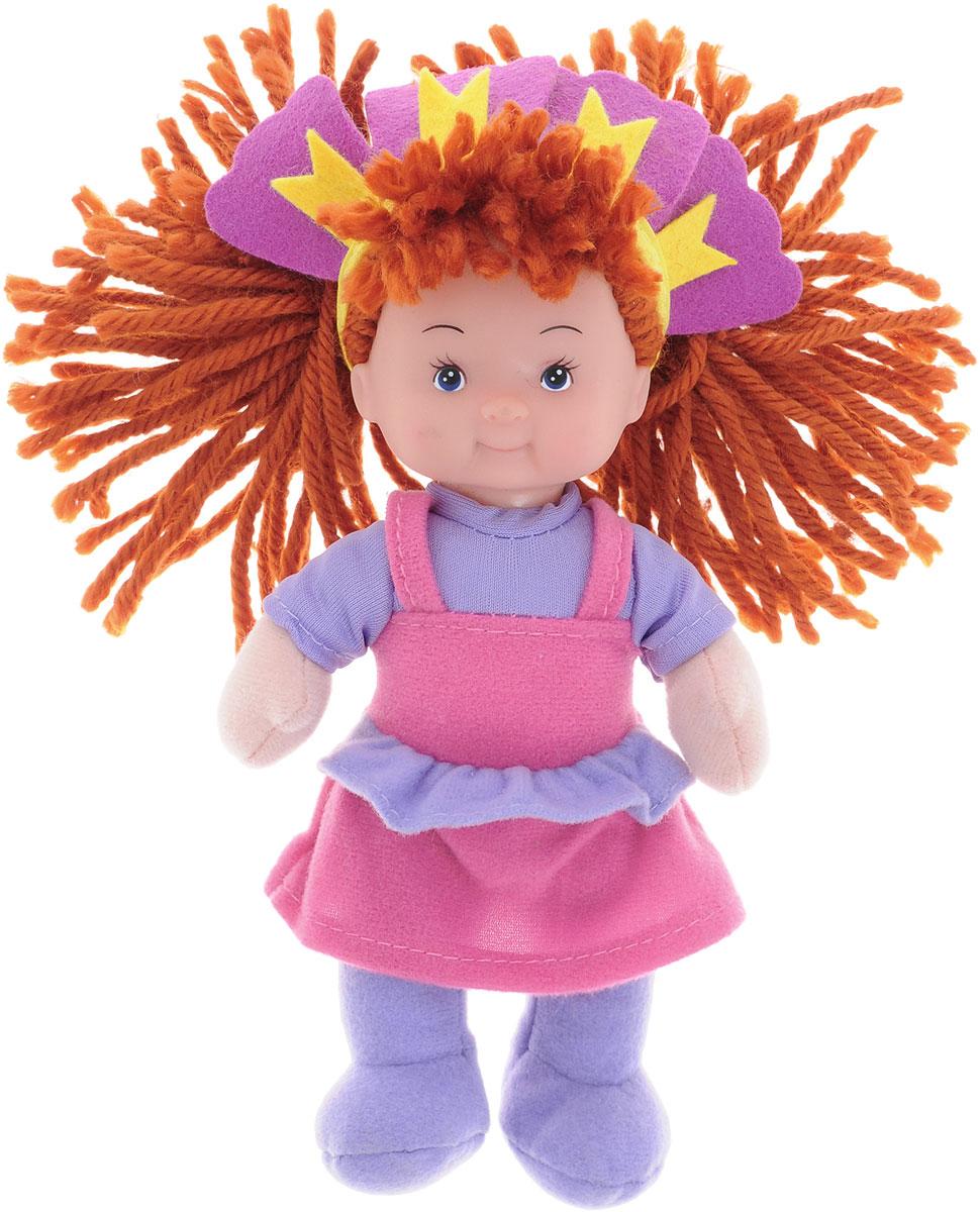 Simba Кукла мягкая цвет наряда сиреневый розовый5017262_рыжая, сиреневый, розовыйМягкая кукла Simba непременно понравится малышке, она быстро привлечет внимание своей яркой расцветкой, добрым взглядом и красивым праздничным нарядом. Малышка с удовольствием придумает много детских игр, которые от души порадуют девочку и подарят хорошее настроение на целый день. Красивая и мягкая на ощупь кукла обязательно заинтересует малышку и увлечет ее в мир удивительных игр. Кукла одета в праздничное платье розового цвета. Очаровательные волосы коричневого цвета, сплетенные из нитей, дополняют прекрасный образ куклы. Мягкая кукла Simba поможет в развитии тактильной чувствительности, стимулируют зрительное восприятие, хватательные рефлексы и моторику рук.