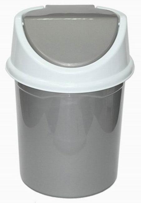 Контейнер для мусора Violet, цвет: серый, белый, 8 л0408/58Контейнер для мусора Violet, изготовленный из прочного полипропилена, снабжен удобной съемной крышкой с подвижной перегородкой. В нем удобно хранить мелкий мусор. Благодаря лаконичному дизайну такой контейнер идеально впишется в интерьер дома или офиса.
