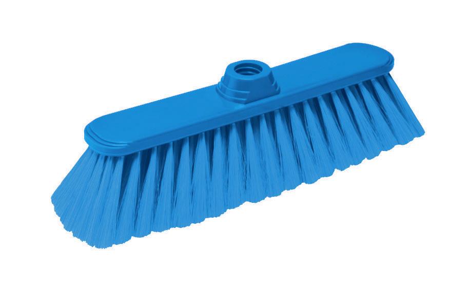 Щетка-насадка для пола York Паула, без ручки, цвет: синий5005Щетка-насадка York Паула, изготовленная из пластика и полиэтилентерефталат (ПЭТ), предназначена для уборки сухого мусора. Изделие оснащено универсальной резьбой, которая подходит ко всем видам ручек. Упругий и длинный ворс позволит собрать мусор из самых труднодоступных мест. Размер щетки: 31 х 8 х 9,5 см. Длина ворса: 7 см. Диаметр отверстия под ручку: 2,2 см.