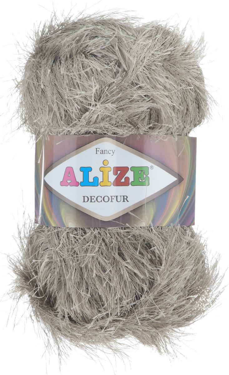 Пряжа для вязания Alize Decofur, цвет: норка (541), 110 м, 100 г, 5 шт364128_541Фантазийная пряжа-травка Decofur изготовлена из полиэстера. Предназначена для ручного вязания самостоятельных пушистых изделий и идеально подходит для отделки. Это могут быть нарядные кофточки, куртки, накидки, шарфы и шапки, шали, карнавальные костюмы, предметы домашнего интерьера, игрушки. Нить равномерной толщины с ворсинками чередующейся длины 1,5 см и 3 см. Рекомендуемый размер спиц: №6-8. Рекомендуемый размер крючка: №3-4. Состав: 100% полиэстер.