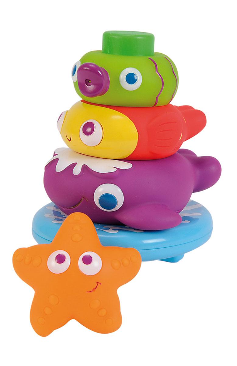 Simba Игрушка для ванной Пирамидка с животными4019678Яркая игрушка для ванной Пирамидка. Животные привлечет внимание вашего малыша и сделает процесс купания веселым и интересным. Пирамидка основания и четырех элементов в виде морских животных. Три из четырех элементов можно использовать как брызгалки. Игрушки для ванной отлично развивают у малышей мелкую моторику рук, координацию движений, воображение и фантазию.