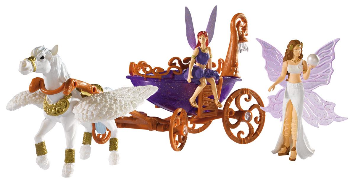 Simba Игровой набор Лошадка с каретой и феями4418530Игровой набор Лошадка с каретой не оставит равнодушной ни одну девочку. В волшебной стране Magic Fairies сбываются все мечты. Именно тут живут фантазии. Тут летают крошечные феи, перелетая с цветка на цветок и занимаясь своими сказочными делами. А иногда после хлопотного дня они садятся в прелестные каретки, и крылатые лошадки мчат их на бал. Там уже собрались все жители страны. Сказка начинается... В наборе крылатая лошадка с каретой и две сказочные феи. Карета дополнена фонариком, который мягко мерцает и меняет цвета. Порадуйте свою малышку таким замечательным подарком! Для работы фонарика требуются 2 батарейки 1,5 V типа LR 44 (комплектуется демонстрационными).