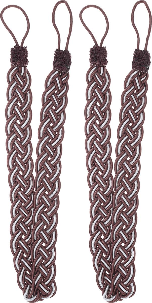 Подхват для штор Goodliving Коса, цвет: бордовый, серебристый, длина 65 см, 2 шт142669_752/502Подхват для штор Goodliving Коса представляет собой плотный узор, плетеный в виде косы. Изделие оснащено петлями для фиксации штор, гардин и портьер. Подхват - это основной вид фурнитуры в декоре штор, сочетающий в себе не только декоративную функцию, но и практическую - регулировать поток света. Такой аксессуар способен украсить любую комнату. Длина подхвата (с учетом петель): 65 см. Ширина подхвата: 2,5 см.