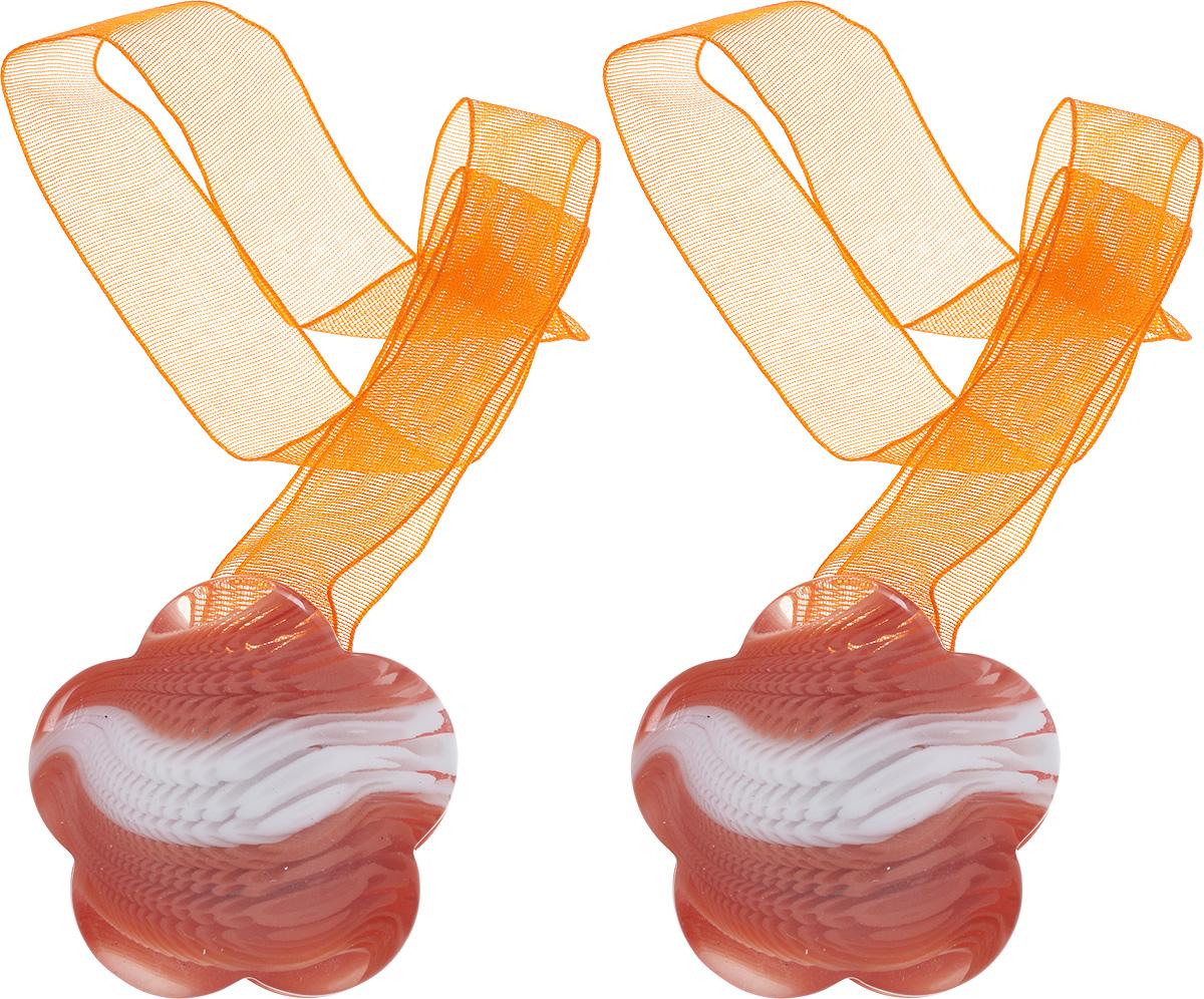 Подхват для штор Wehome, на магнитах, цвет: белый, оранжевый, 2 шт7711304_оранжевыйПодхват для штор Wehome, выполненный из пластика, можно использовать как держатель для штор или для формирования декоративных складок на ткани. С его помощью можно зафиксировать шторы или скрепить их, придать им требуемое положение, сделать симметричные складки. Благодаря магнитам подхват легко надевается и снимается. Подхват для штор является универсальным изделием, которое превосходно подойдет для любых видов штор. Подхваты придадут шторам восхитительный, стильный внешний вид и добавят уют в интерьер помещения. Длина подхвата: 29 см.