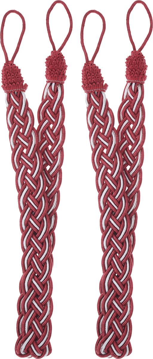 Подхват для штор Goodliving Коса, цвет: красный, серебристый, длина 65 см, 2 шт142669_574/502Подхват для штор Goodliving Коса представляет собой плотный узор, плетеный в виде косы. Изделие оснащено петлями для фиксации штор, гардин и портьер. Подхват - это основной вид фурнитуры в декоре штор, сочетающий в себе не только декоративную функцию, но и практическую - регулировать поток света. Такой аксессуар способен украсить любую комнату. Длина подхвата (с учетом петель): 65 см. Ширина подхвата: 2,5 см.