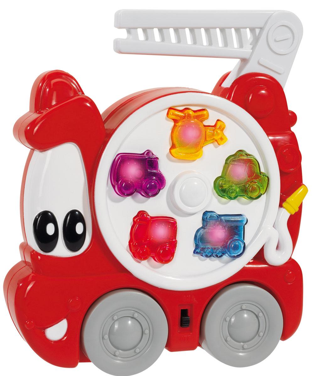Simba Музыкальная игрушка Пожарная машина4015136Пожарная машина - это веселая развивающая игрушка, которая оснащена звуковыми и световыми эффектами. Нажимая на кнопки в виде транспортных средств, ребенок услышит соответствующие звуки и веселую мелодию, сопровождающуюся ярким миганием. Машинка имеет небольшие размеры и удобную ручку-лестницу, ее можно взять с собой в дорогу или на прогулку. С помощью такой музыкальной игрушки малыш познакомится с окружающим миром, научится распознавать цвета и звуки. С помощью игрушки Пожарная машина ребенок сможет развить цветовое и звуковое восприятие и весело провести время. Порадуйте его таким великолепным подарком! Для работы нужны 2 батарейки АА (комплектуется демонстрационными).
