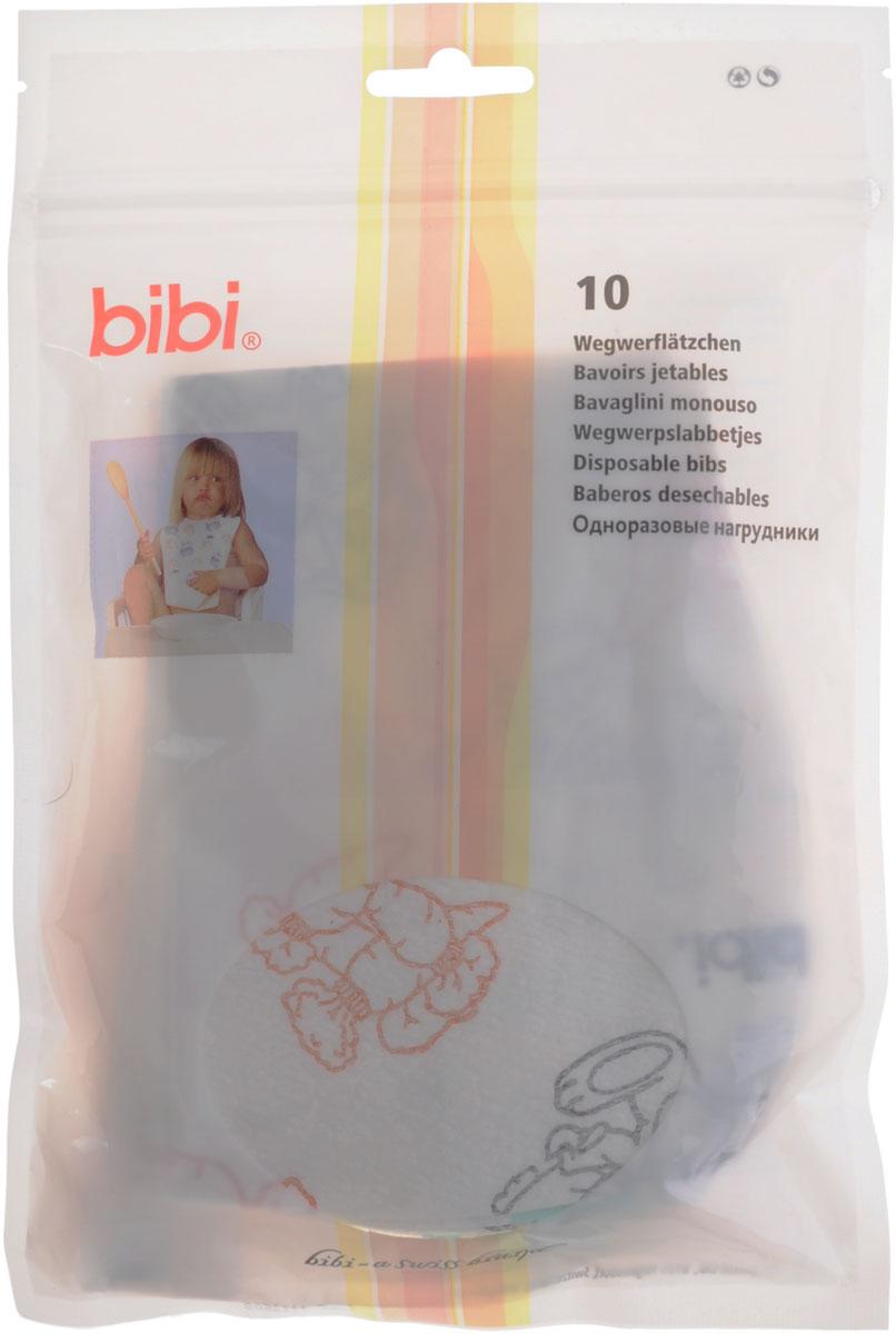 Bibi Одноразовые нагрудники 10 шт105222/04.668.1-40Симпатичные одноразовые нагрудники Bibi для кормления ребенка незаменимы в путешествии или на пикнике. Нагрудники не нужно стирать, одноразовый нагрудник всегда чист и готов к использованию, по своим качественным характеристикам он не уступает нагрудникам многоразового использования. Одна сторона изделия мягкая и легко впитывающая влагу, другая - непромокаемая. Крепится нагрудник к одежде малыша при помощи надежных клейких полосок. Одноразовые нагрудники от Bibi сделают вашу жизнь легче! Особенности: Легко впитывающие с одной стороны и непромокаемые с другой. Специальный глубокий кармашек внизу изделия, предотвращающий попадание пищи на стол и одежду. Липучки надежно крепятся к одежде.