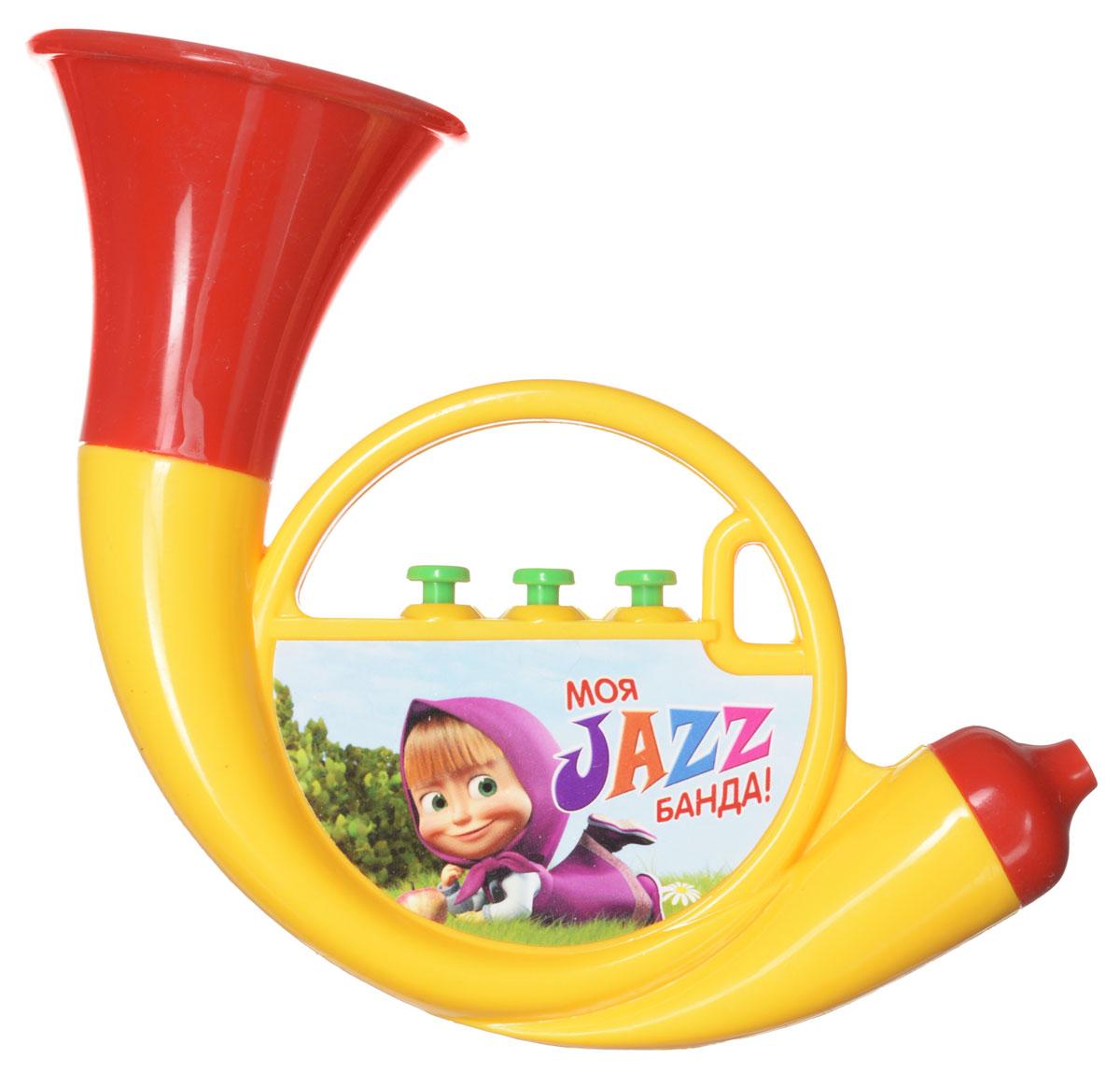 Маша и Медведь Музыкальная игрушка Труба цвет желтыйGT5846Музыкальная игрушка Маша и Медведь Труба непременно порадует вашего малыша веселыми звуками. Эта яркая пластиковая игрушка способствует развитию восприятия звука, мелкой моторики, цветовосприятия. Уже с малых лет у детей может начать проявляться интерес к музыке, но настоящие инструменты малышу давать рано, поэтому лучшим решением в этой ситуации послужат детские музыкальные инструменты. Дуем в трубочку, нажимаем на 3 кнопочки, и пытаемся наиграть какую-нибудь мелодию.