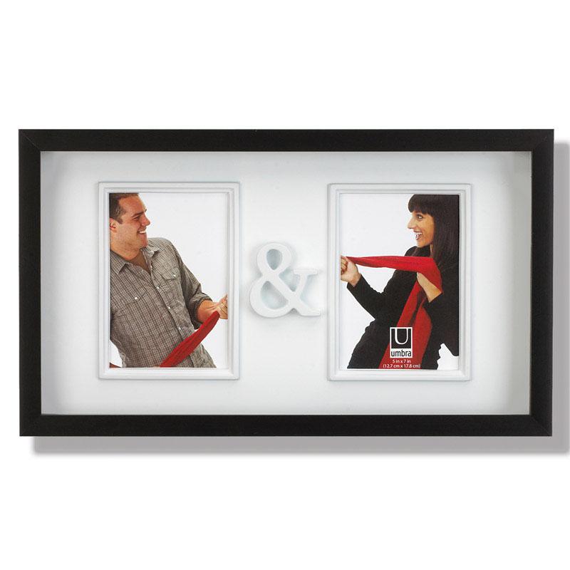 Рамка для двух фотографий Umbra You&Me. 316150-040316150-040Замечательная фоторамка для влюбленных и не только. Вмещает две фотографии размером 13х18 см, соединенные символом & - и. Оригинально впишется в Ваш интерьер, украся собой журнальный столик или стену в гостиной.