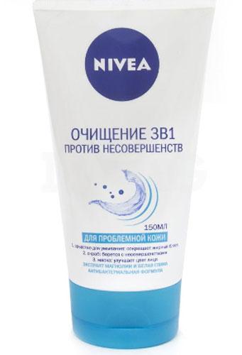 NIVEA Очищение 3в1 против несовершенств 150 мл10023219Уникальное средство 3-в-1 экстра глубокое очищение с мультиэффектом от Nivea Visage мгновенно действует благодаря формуле на основе экстракта магнолии.