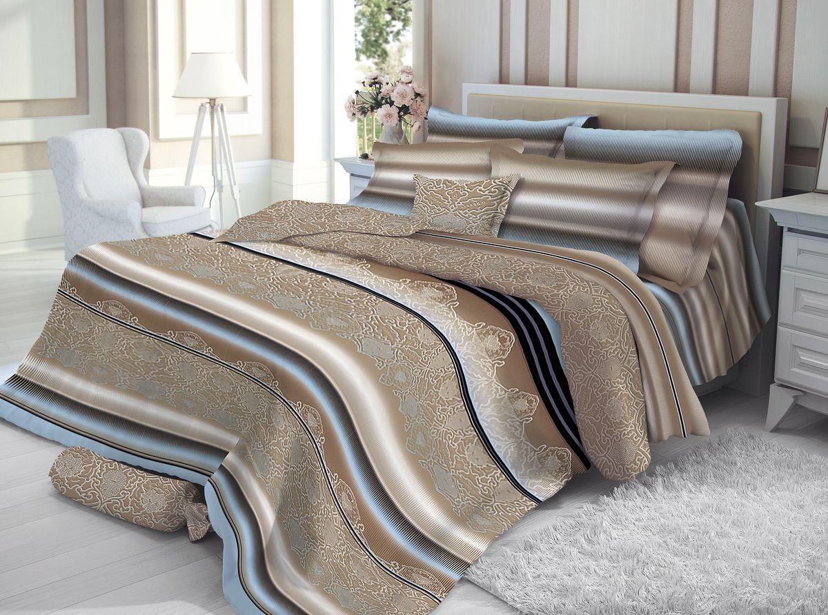 Постельное белье Verossa Сатин линия Decor, 1,5-спальное, наволочки 50х70. 189569189569Превосходное, стильное бельё из 100% хлопоковой ткани - сатина, станет украшением любой спальни. Благодаря высоку номеру пряжи, атласному переплетению, а также высокой плотности ткани, сатин является невероятно мягкой и гладкой тканью с особым блеском, а также высокой прочностью. Предназначено для людей, которые любят и ценят себя и свой комфорт. Они обладают хорошим вкусом и при этом практичны. Их ценности – дом, семья, традиции домашнего уюта. Высокие стандарты качества пошива продукта: пошив на автоматической линии – гарантия соблюдения точности размеров изделий, Высокое качество тканей – гарантирует потребителю легкость и долговечность эксплуатации белья: ткани не линяют, не садятся, не пилингуются Качественная упаковка продукта – привлекательный внешний вид, возможность использовать продукт как подарок