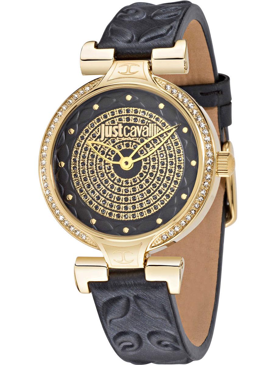 Наручные часы женские Just Cavalli Lady J, цвет: серый. R7251579503R7251579503Часы наручные Just Cavalli R7251579503, стразы из стекла, ПВД покрытие золотом