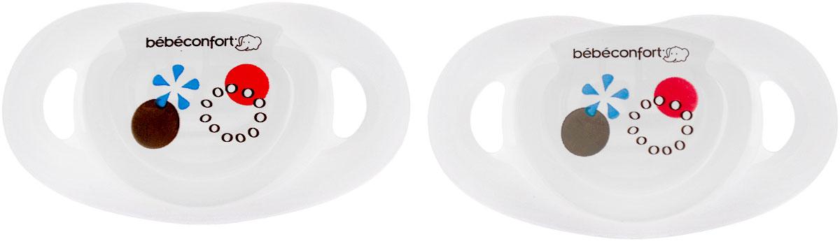 Bebe Confort Пустышка Safe от 0 до 12 месяцев размер Т1 цвет белый 2 шт