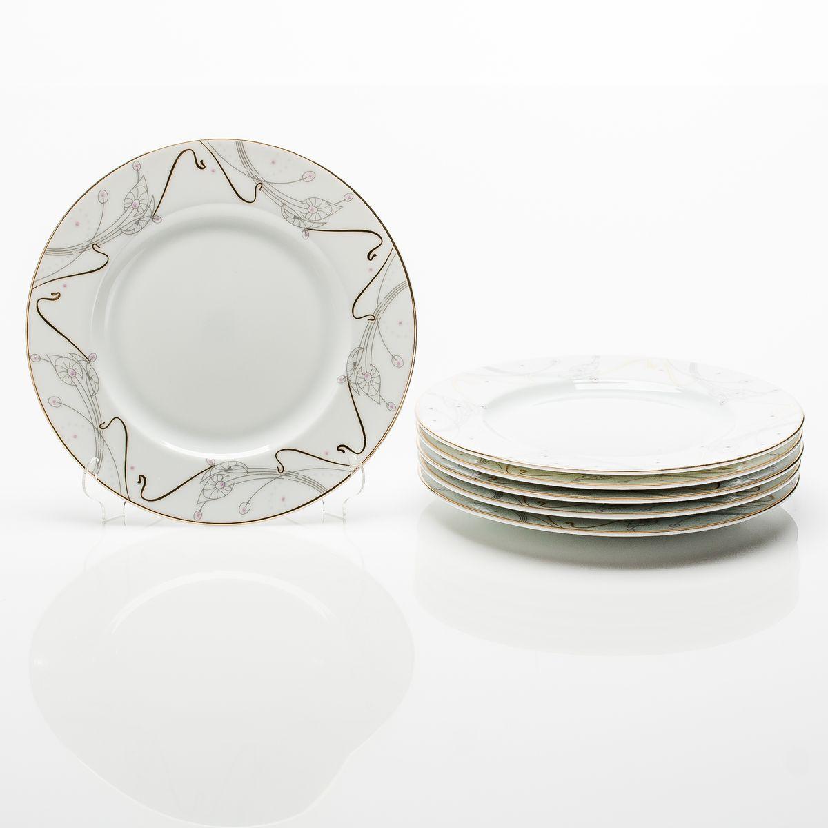 Тарелка десертная 19см 6 предметов АРТ-НУВО ZH09-KY24Margo 0924 TD19x6