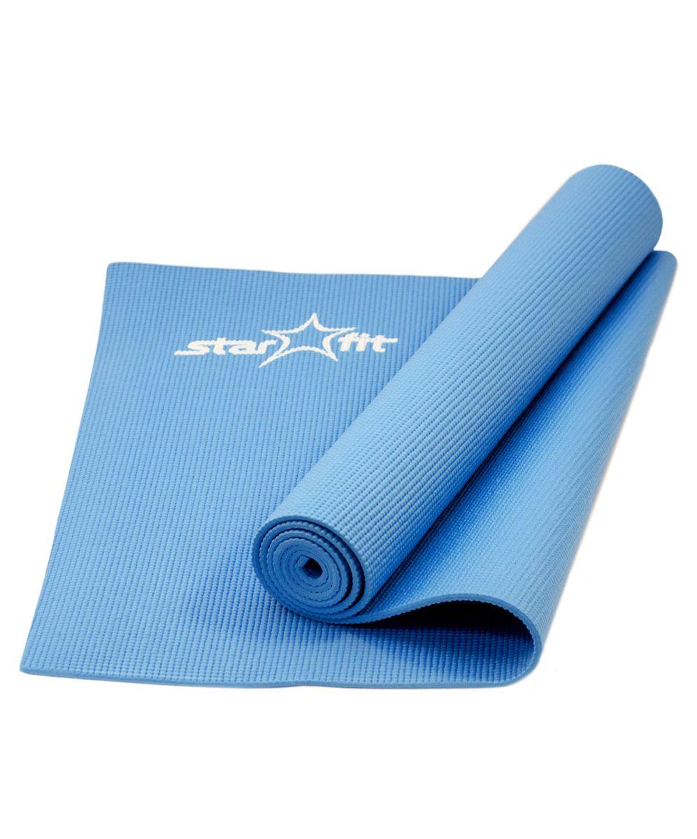 Коврик для йоги Starfit FM-101, цвет: синий, 173 х 61 х 0,5 смУТ-00007225Коврик для йоги Star Fit FM-101 - это незаменимый аксессуар для любого спортсмена как во время тренировки, так и во время пре-стретчинга (растяжки до тренировки) и стретчинга (растяжки после тренировки). Выполнен из высококачественного ПВХ. Коврик используется в фитнесе, йоге, функциональном тренинге. Его используют спортсмены различных видов спорта в своем тренировочном процессе. Предпочтительно использовать без обуви. Если в обуви, то с мягкой подошвой, чтобы избежать разрыва поверхности коврика.