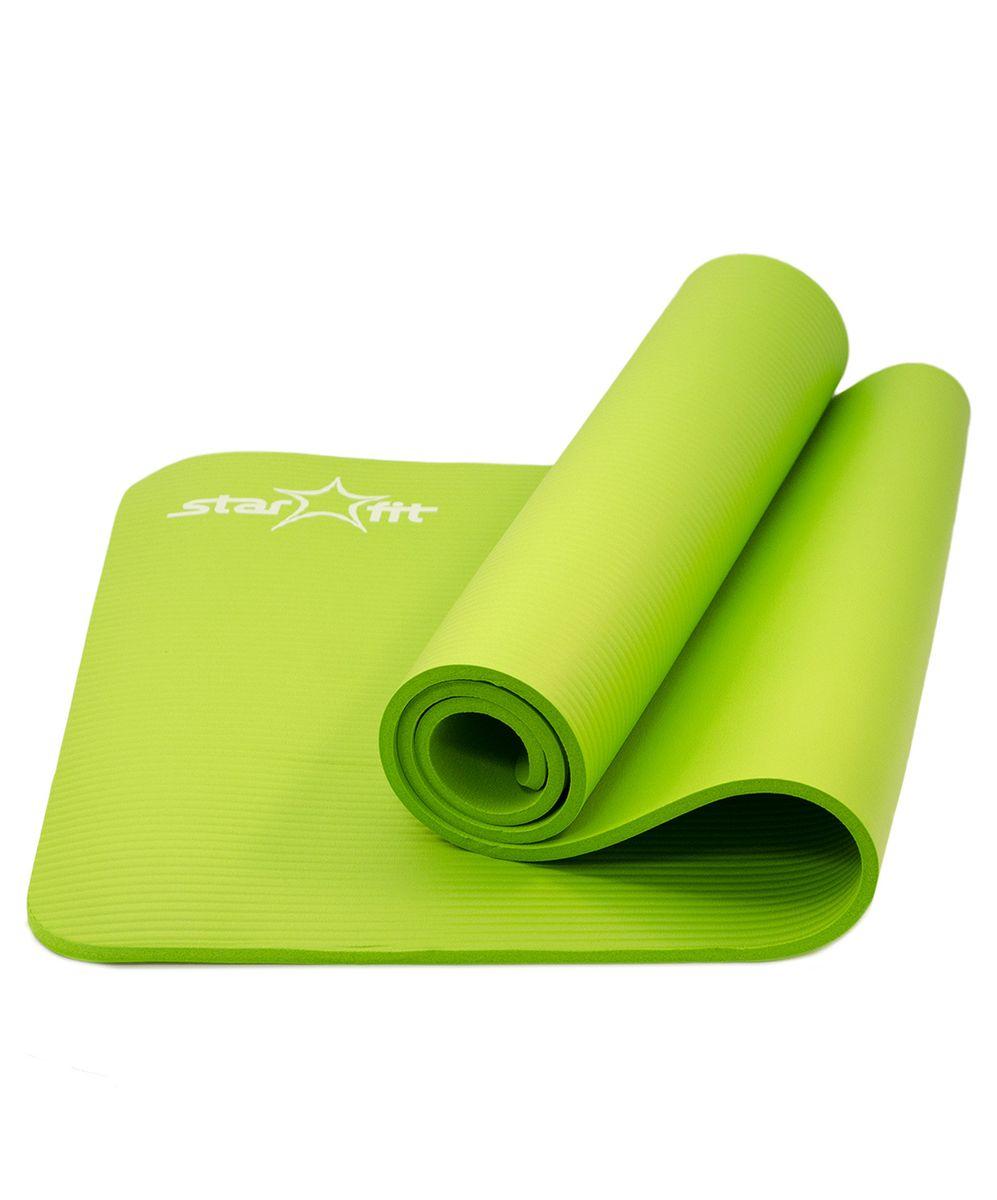 Коврик для йоги Starfit FM-301 NBR 183x58x1,0 см, зеленыйУТ-00007249Коврик для йоги FM-301, зеленый - это современный, удобный и компактный аксессуар для занятий фитнесом и йогой в группах или домашних условиях. Не скользящая поверхность обеспечивает комфорт при выполнении упражнений. В процессе занятий коврик не растягивается и не теряет формы. Мягкая, бархатистая на ощупь поверхность коврика создает ощущение дополнительного комфорта и предотвращает скольжение рук и ног во время занятий. Комфортная не скользящая поверхность, легкий, удобно брать на занятия. Прочный и упругий материал, не растягивается,легко моется. Компактный, хранится в свернутом виде Материал: NBR