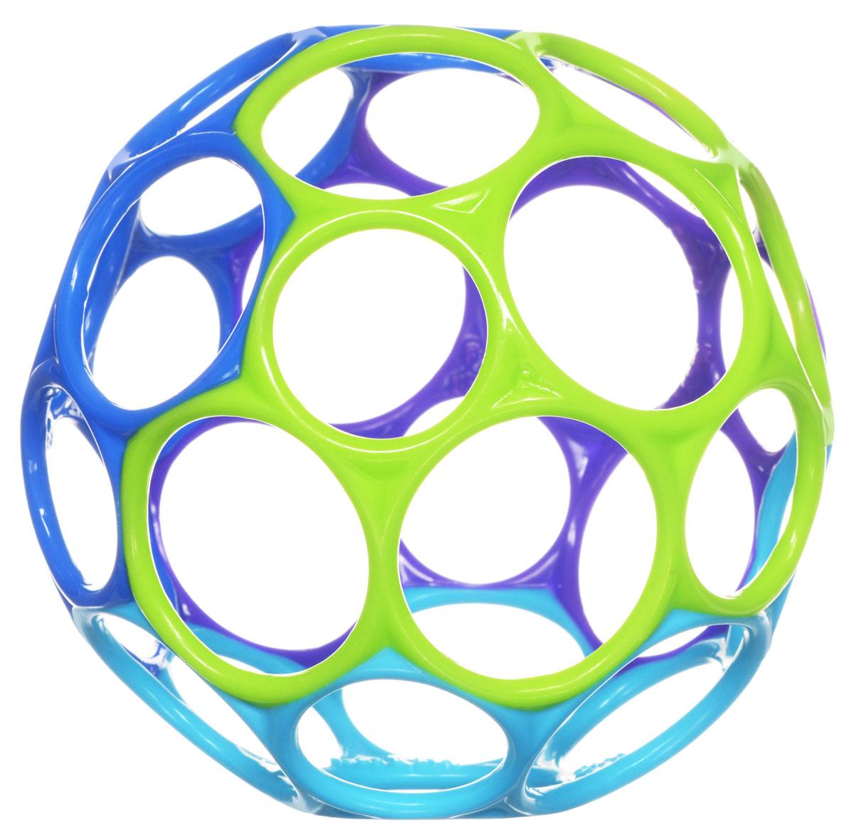 Oball Развивающая игрушка Мячик цвет фиолетовый синий голубой салатовый81024_фиолетовый, синий, голубой, салатовыйРазвивающая игрушка Oball станет для вашего ребенка любимой игрушкой. Выполнен из мягкого пластика ярких цветов. Мяч имеет 32 отверстия для пальчиков, что делает его легким и позволят даже самому маленькому крохе поднять и удерживать. Киньте мячик, и малыш с легкостью его поймает. Его можно растягивать и сжимать, тренируя ручки ребенка и развивая мелкую моторику. Оригинальность материала и формы создают новый необычный инструмент для развития малыша, а положительные эмоции только усилят эффект.