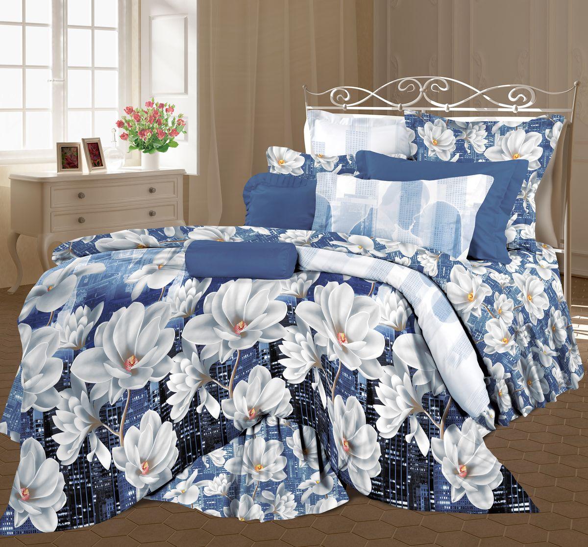 КПБ Евро Lux Cotton Romantic КБR-41 рис. 11725/11726 вид 1 Ночной поцелуй295509