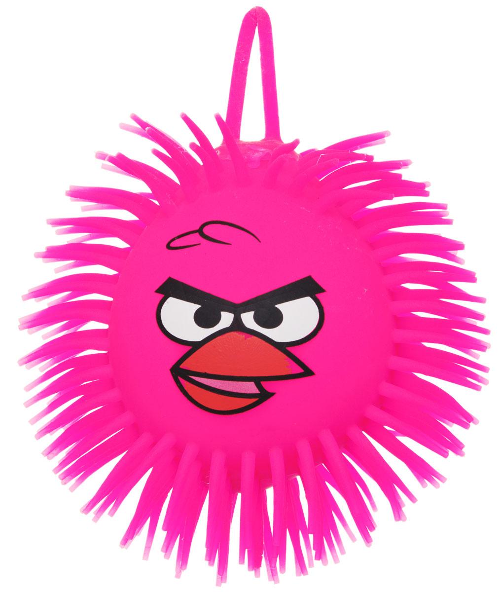 1TOY Игрушка-антистресс Ё-Ёжик Злая птичка цвет розовый диаметр 12 смТ66Ё-Ёжик - это яркая игрушка-антистресс - мягкая, приятная на ощупь и напоминающая свернувшегося ёжика. Взяв игрушку в руки, расстаться с ней просто невозможно! Её не только приятно держать в руках, если перекинуть игрушку из руки в руку, она начнёт мигать цветными огоньками. Игрушка ярко-розового цвета с лицом птички из мультфильма Angry Birds и длинными мягкими колючками. Данная игрушка рассчитана на широкую целевую аудиторию, как детей от трёх лет, так и взрослых. Сертифицирована, безопасна, надёжна.