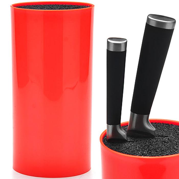 Подставка для ножей Mayer & Boch, цвет: красный, высота 22,3 см. 2489324893Универсальная подставка для ножей Mayer & Boch отлично дополнит интерьер Вашей кухни. Корпус подставки сделан из термопластика, что делает ее гигиеничной и долговечной. Благодаря полипропиленовым волокнам, из которых состоит наполнитель, формируют структуру, подобную щетке. Просто воткните нож в подставку, и она надежно удержит его. Изделие отвечает всем нормам гигиенических требований, так как при необходимости наполнитель свободно вынимается и моется в посудомоечной машине. Подставка станет прекрасным подарком, а ее яркий дизайн станет украшением вашей кухни. Можно мыть в посудомоечной машине. Высота подставки: 22,3 см. Диаметр подставки: 11 см.
